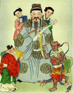 Wen Chang, traditional Chinese god of literature: Public Domain