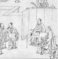 Confucius and his disciples: Public Domain