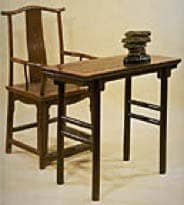 Confucian scholar's desk and chair: Public Domain