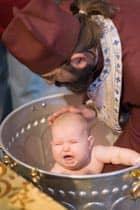 Infant baptism in an Orthodox church Source: http://www.flickr.com/photos/jkransen/2534118870/