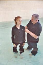 Adult baptism by immersion Source: http://www.flickr.com/photos/roblisameehan/1059148454/