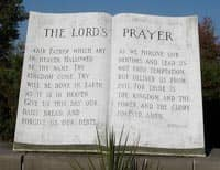 The Lord's Prayer set in stone (Canada) Source: http://www.flickr.com/photos/loozrboy/2969821053/