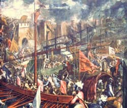 Siege of Constantinople (1204) Source: Public Domain
