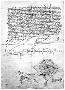 Alhambra Decree, ordering Jews to leave Spain Source: Public Domain
