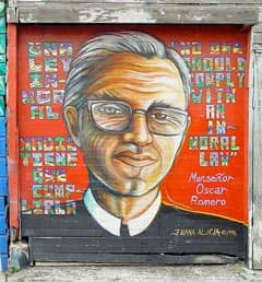 mural honoring Oscar Romero Source: http://www.flickr.com/photos/livenature/176581472/v