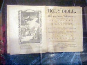 title page of the Holy Bible (printed in 1791) Source: Public Domain