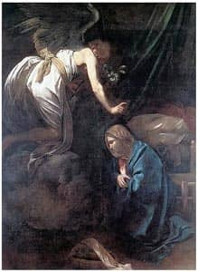 the annunciation: an angel reveals to Mary that she will give birth Source: http://www.flickr.com/photos/ideacreamanuelapps/3541398711/