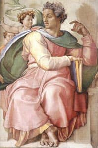 the prophet Isaiah (from Sistine Chapel) Source: http://www.flickr.com/photos/timothyministries/3782402717/
