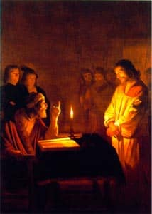 "Photo of ""Christ Before the High Priest"", G. van Honthorst, 1592-1656"