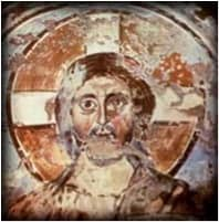 Catacomb drawing of Christ, 4th century, Rome