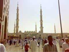 Title: Masjid Nawabi (Prophet's Mosque) in Medina Source: http://www.flickr.com/photos/omarsc/2993783627/