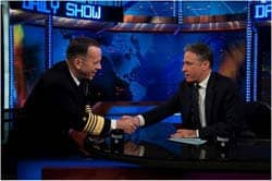 Jon Stewart interviewing Navy Adm. Mike Mullen: DoD photo by Mass Communication Specialist 1st Class Chad J. McNeeley - via C.C. license at Flickr
