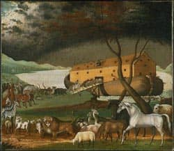 Noah's Ark painting by Edward Hicks-1846 via Wikimedia CC