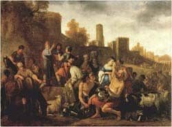 Moses Ordering the Slaughter of the Midianitic: by Claes Cornelisz Moeyaert 1650 via Wikimedia CC