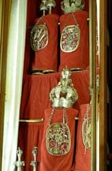 Title: Torah scrolls adorned with crowns and breastplates  Source: http://www.flickr.com/photos/stuart_spivack/464275039/