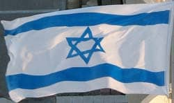 Title: the Israeli flag, depicting the Magen David in its center Source: http://www.flickr.com/photos/emeryjl/563170507/