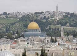 Title: Temple Mount in Jerusalem, site of ancient Jewish temples and of the Dome of the Rock today Source: http://www.flickr.com/photos/amanderson/2420252379/