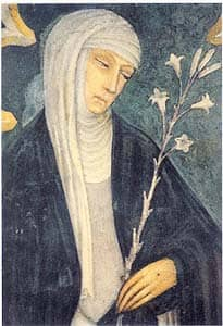 14th century fresco of St. Catherine of Siena: by Andrea Vanni