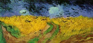 Wheat Field with Ravens, Vincent van Gogh: Copyright 1995 Nicolas Pioch