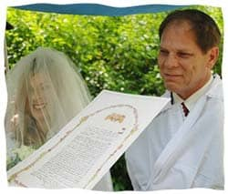 The author under the chuppah.