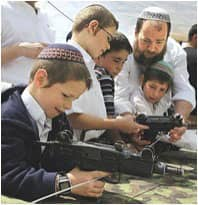 Settlers teaching their children to shoot: Photo courtesy of Bird Eye via C.C. license at Flickr