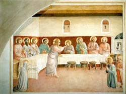 Institution of the Eucharist, Fra Angelico, 1450