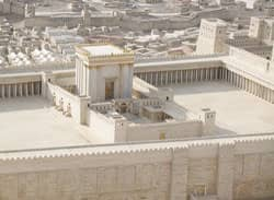 a model of Jerusalem (c. first century CE), with the temple in the foreground Source: http://www.flickr.com/photos/secagle/4075315762/
